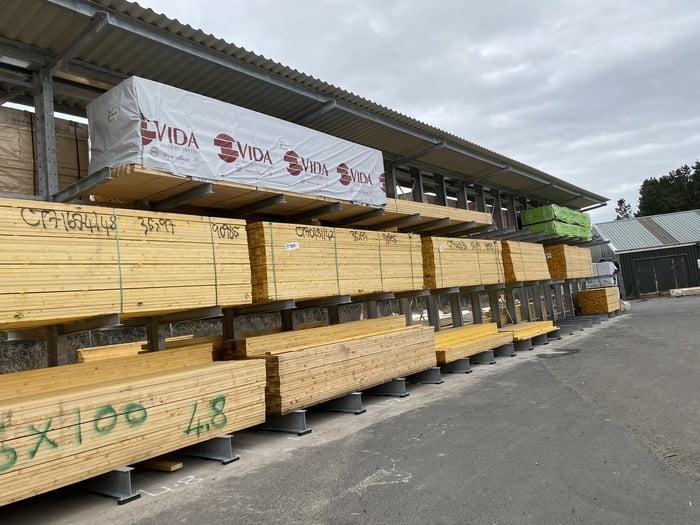 new timber storage racking